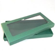DL Green Invitation Boxes With Aperture Lid